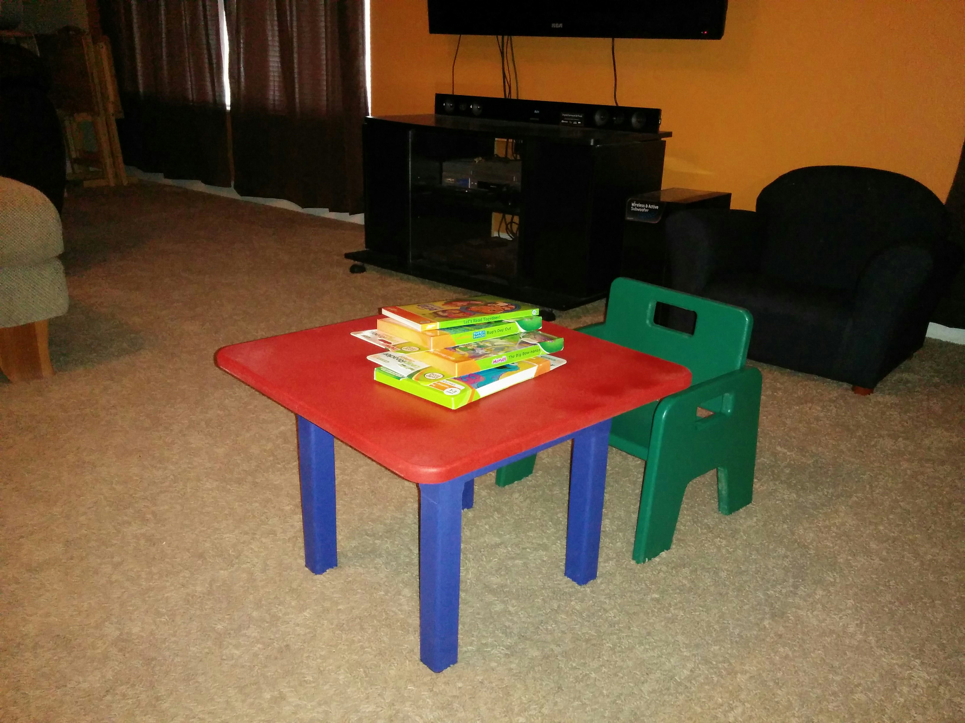 Toddler chair and table